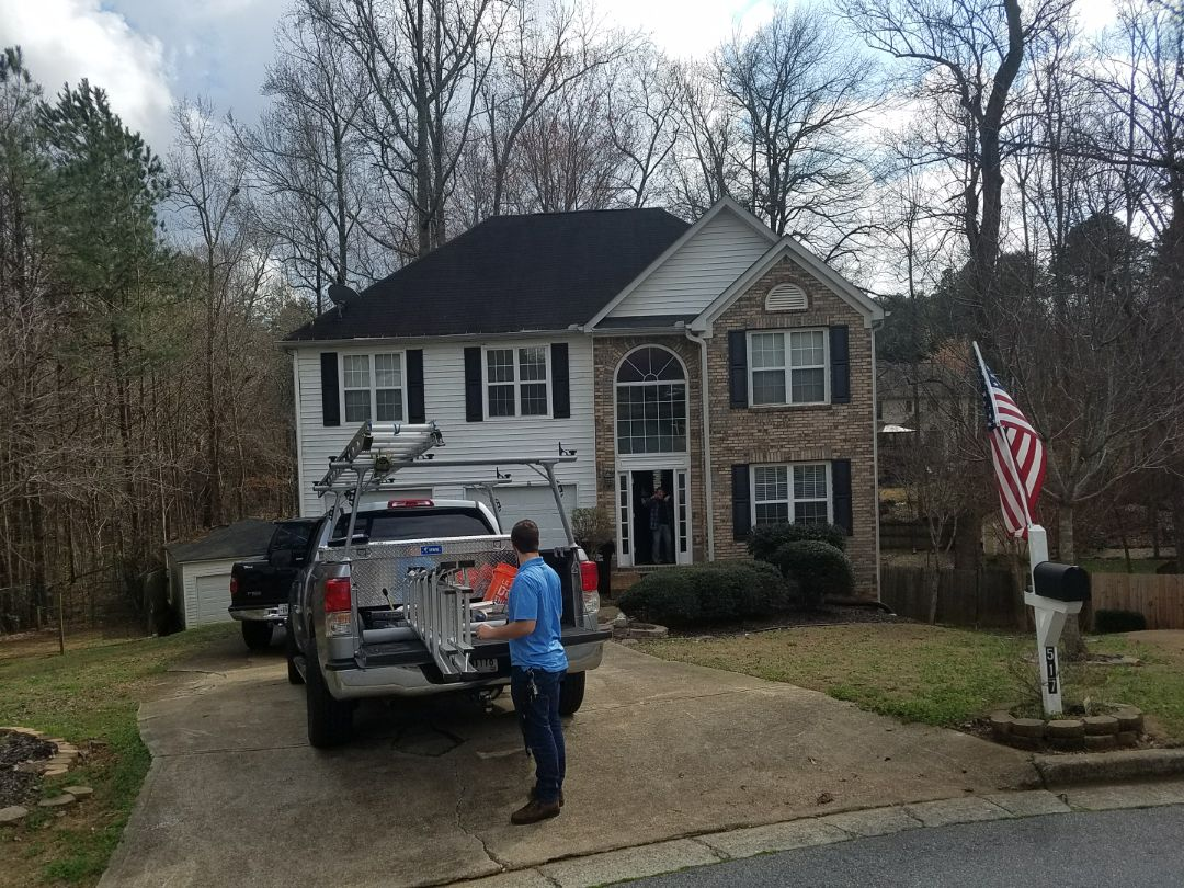 Woodstock, GA - This Vietnam vet needs a roof badly. Infinity Roofing Contractors is proud to offer discounts and additional rebates given by GAF to support our service members.