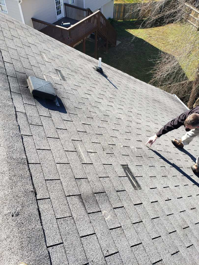 Acworth, GA - This homeowner solicited by dozens of roofers selling a free roof insurance paid by proceeds. When he was ready to have an honest, certified, residential roofing contractor inspect his roof he got online and discovered Infinity Roofing and our reputation for integrity through reviews. Fast forward 3 weeks. Today I'm on his roof with an insurance adjuster and we agreed that a full roof replacement as well as gutter and downspout replaced l. Infinity Roofing Contractors cares with integrity!