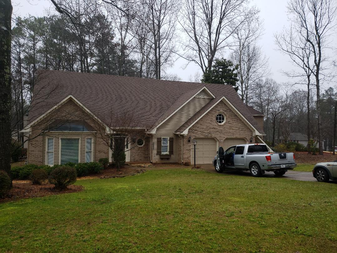 Marietta, GA - This morning we got a call from this homeowner in Marietta looking for a GAF Master Elite Certified roofer to help them get their home ready to sell. We will be installing a new GAF Timberline lifetime roofing system on this property next week!