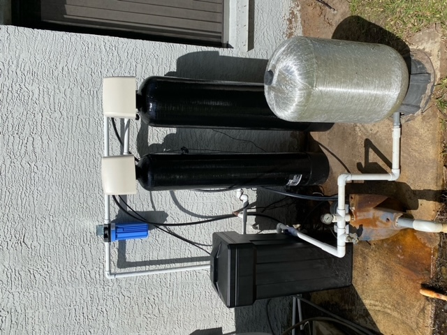 Stuart, FL - Installed a new Clack Matrix WS-1 Matrix Iron Buster and water softener with a new sediment filter.