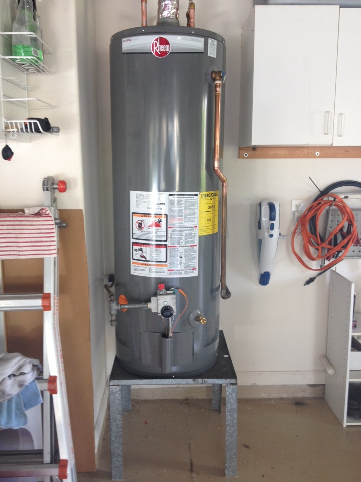 "Hobe Sound, FL - Installed a Rheem 50 gallon propane water heater with a 3/4"" ball valve."
