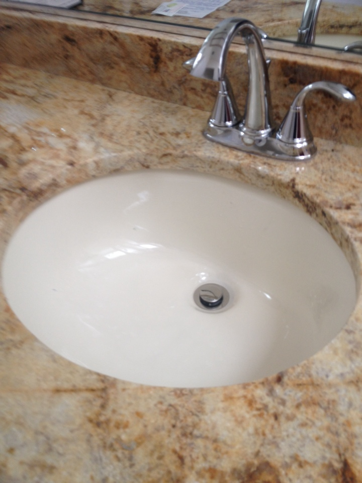 Palm City, FL - Installed three lav faucets with pop up trip wastes.