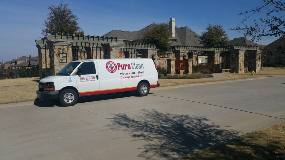 Frisco, TX - Checking out some water damage to wood floors in Lawler Park.