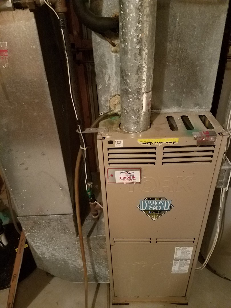 Independence, MN - Heating maintenance. Performed cleaning and tune up on a York furnace.