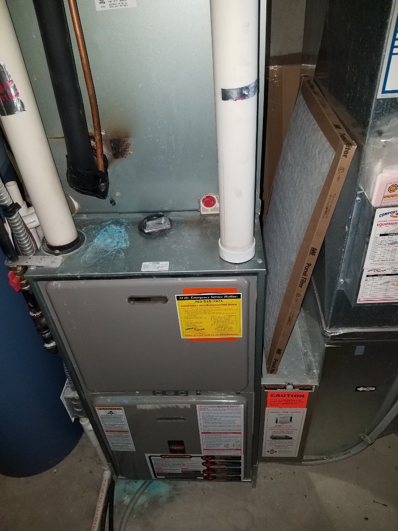 Rockford, MN - Furnace maintenance. Performed tune up and cleaning on a Weather King. Performed tune up and cleaning on a Aprilaire whole home humidifier.