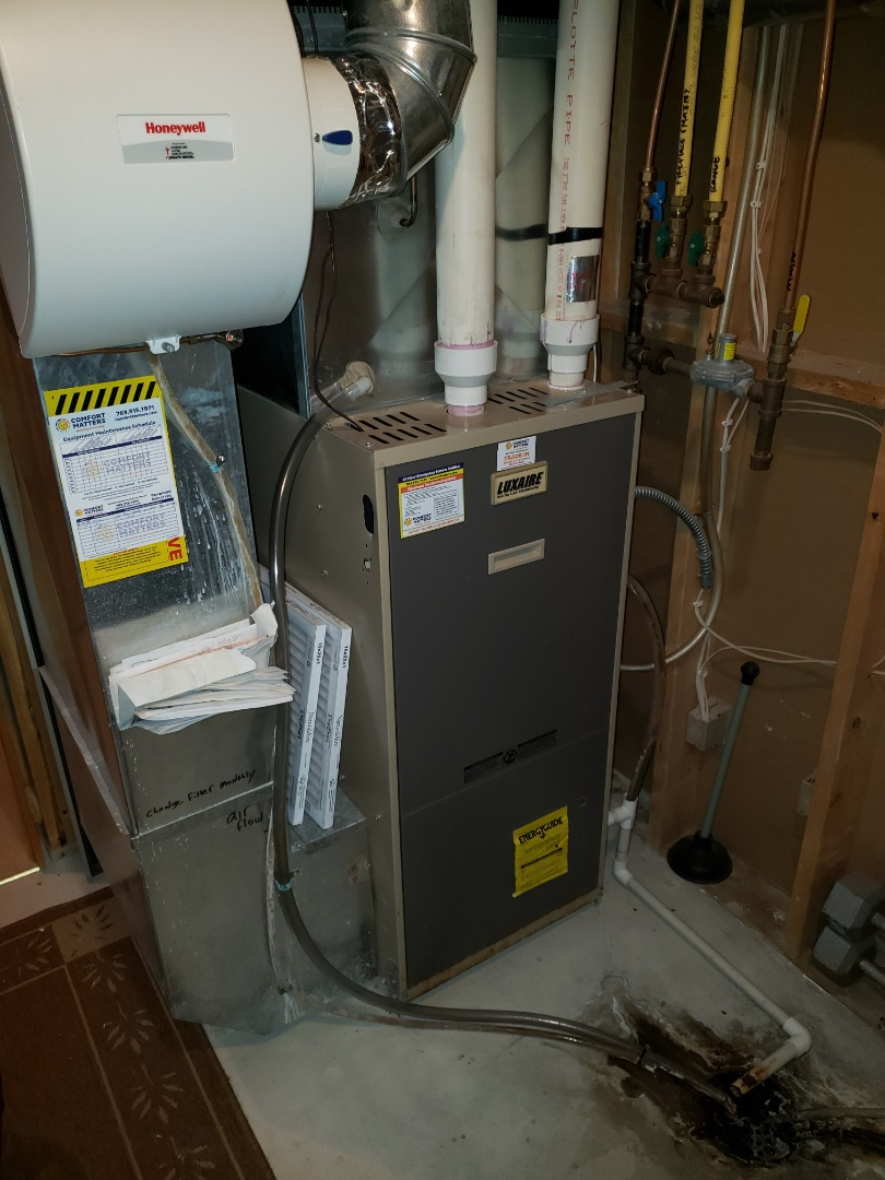 Rogers, MN - Heating service. Installed a pressure safety switch on a Luxaire furnace.