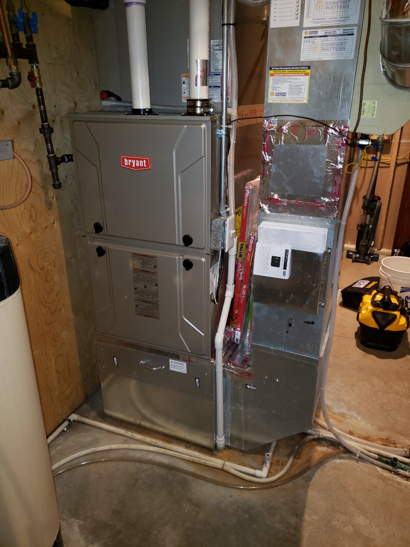 Loretto, MN - Furnace service. Installed a gas valve on a Bryant furnace.
