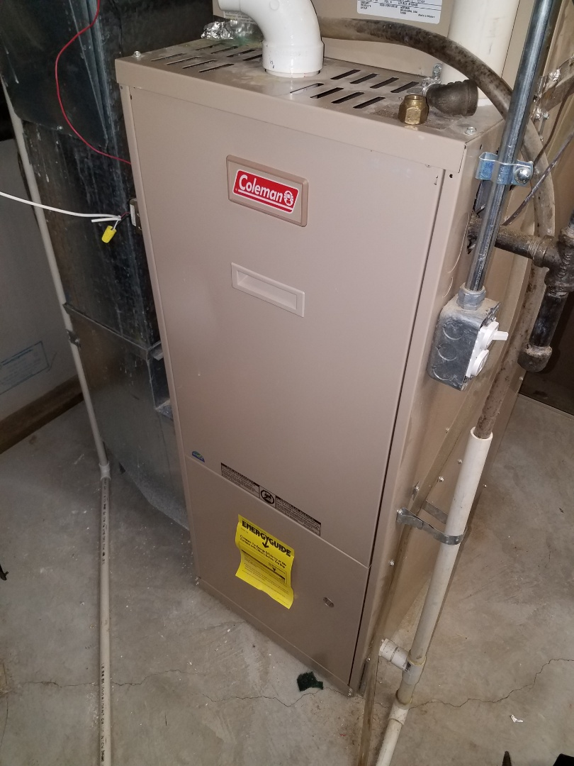 Loretto, MN - Furnace service on Coleman furnace