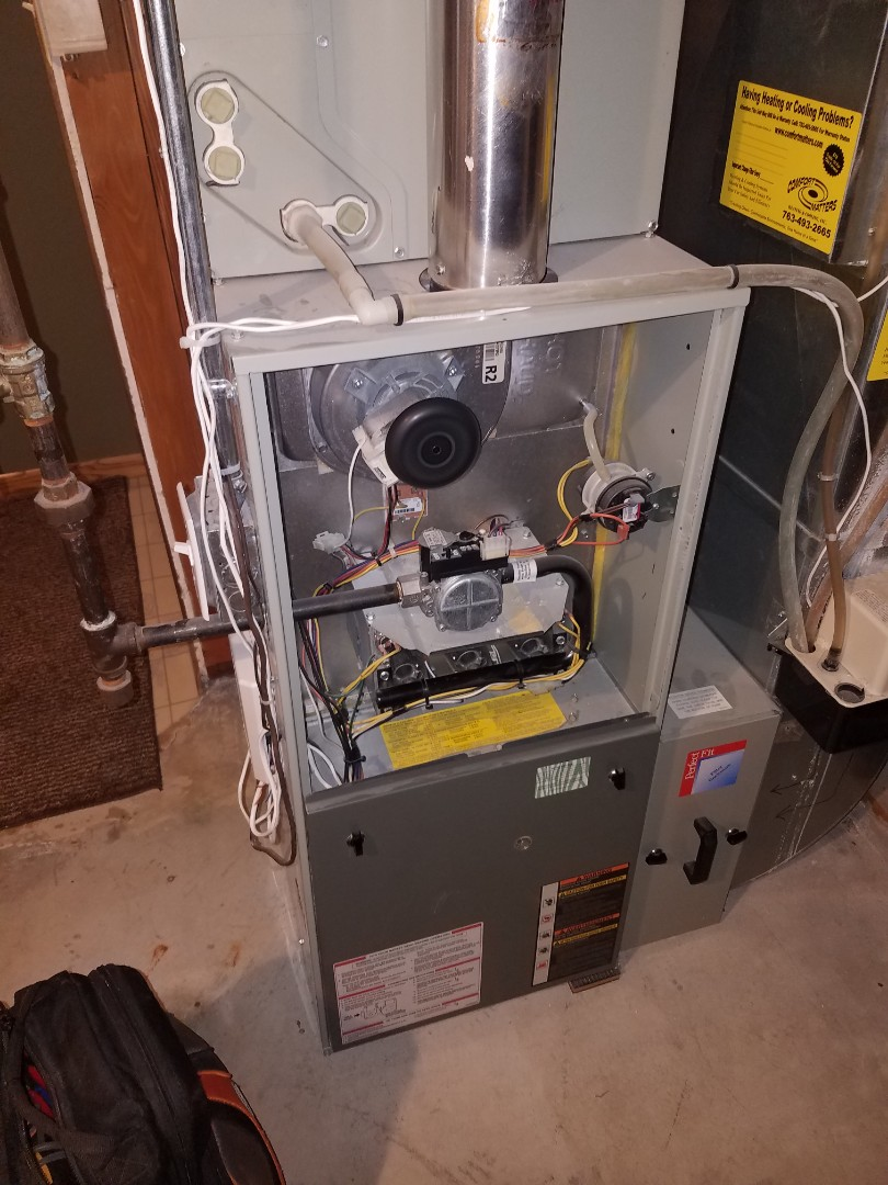 Rogers, MN - Furnace tune up and service on trane standard efficiency furnace