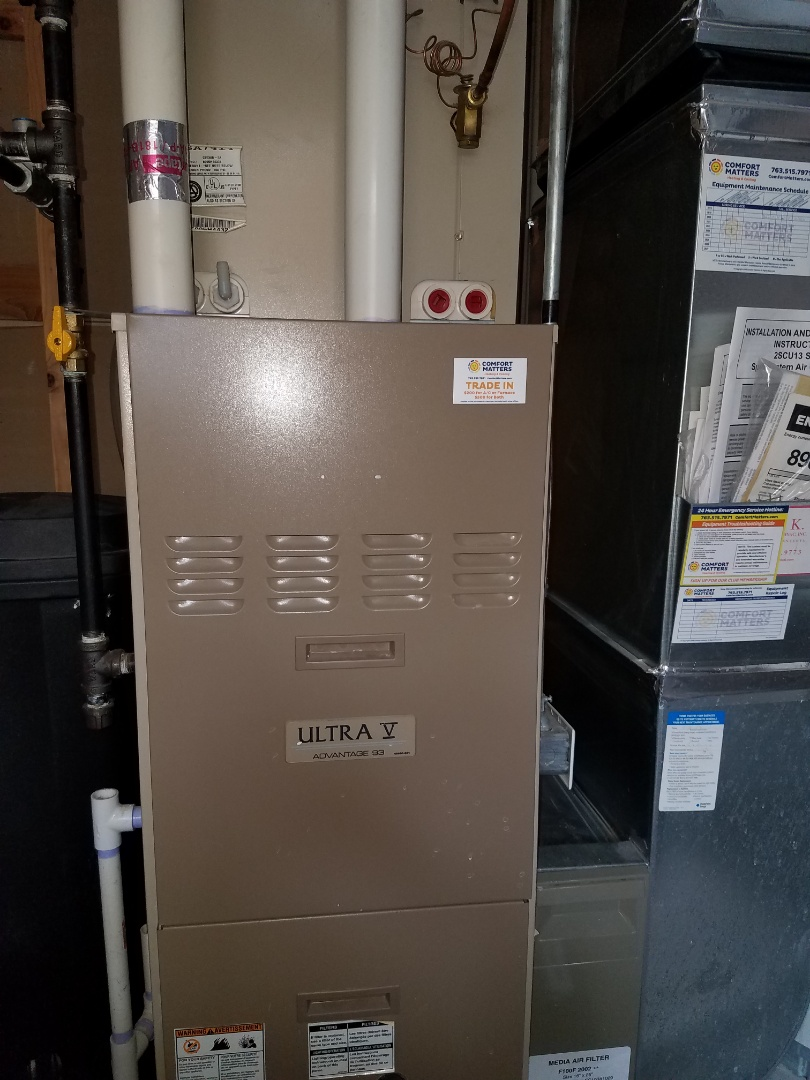 Otsego, MN - Furnace tune up and clean on Armstrong unit in Otsego