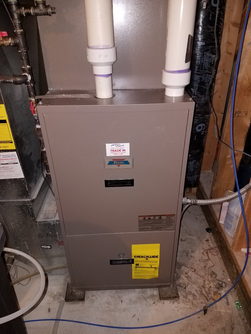 Albertville, MN - Furnace tune up and clean in Evcon unit in Albertville