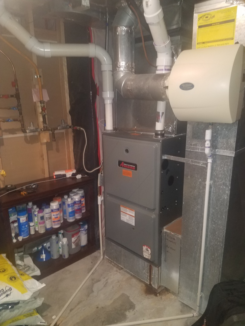 Hanover, MN - Furnace tune up and clean on Amana unit in Hanover