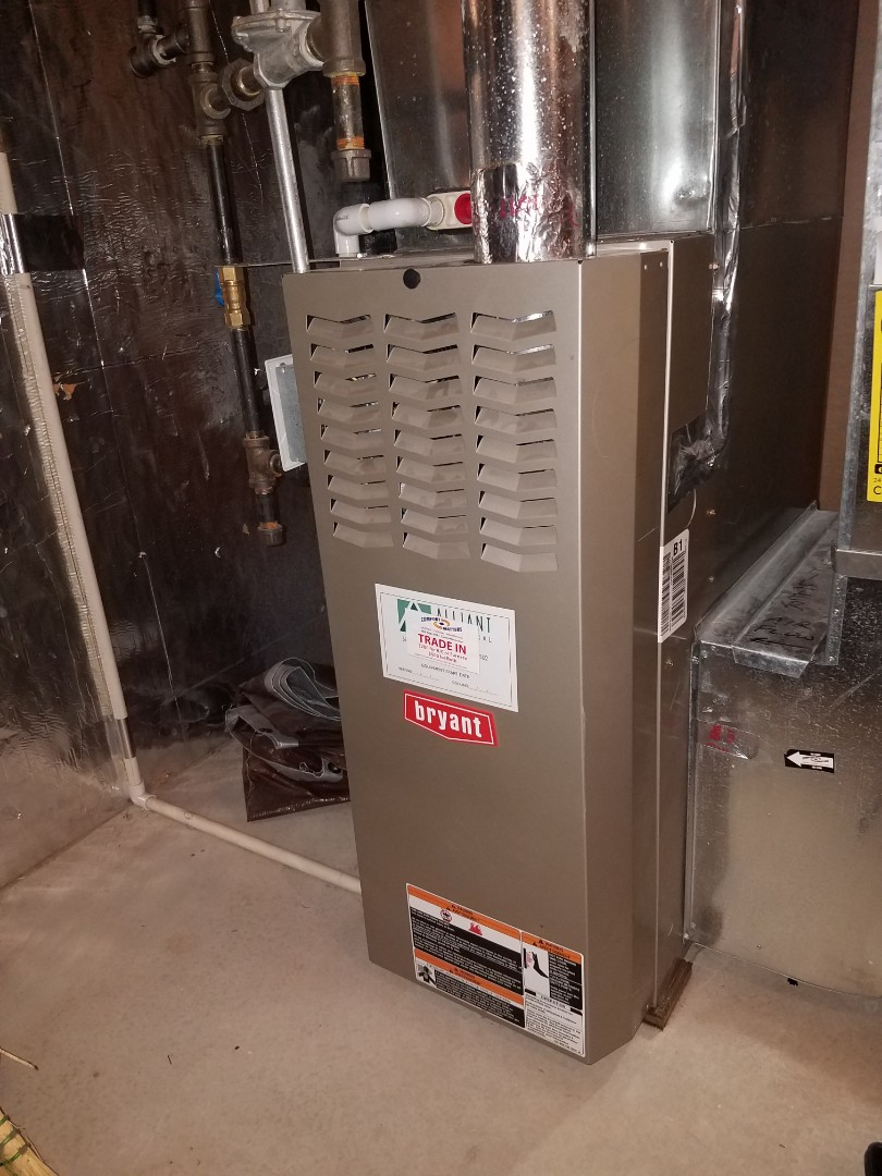 Plymouth, MN - Furnace tune up and clean on Bryant unit in Plymouth