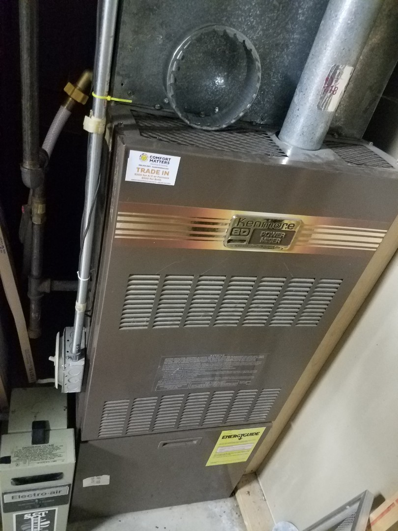 Elk River, MN - Furnace maintenance. Performed tune up and cleaning on a Kenmore furnace.