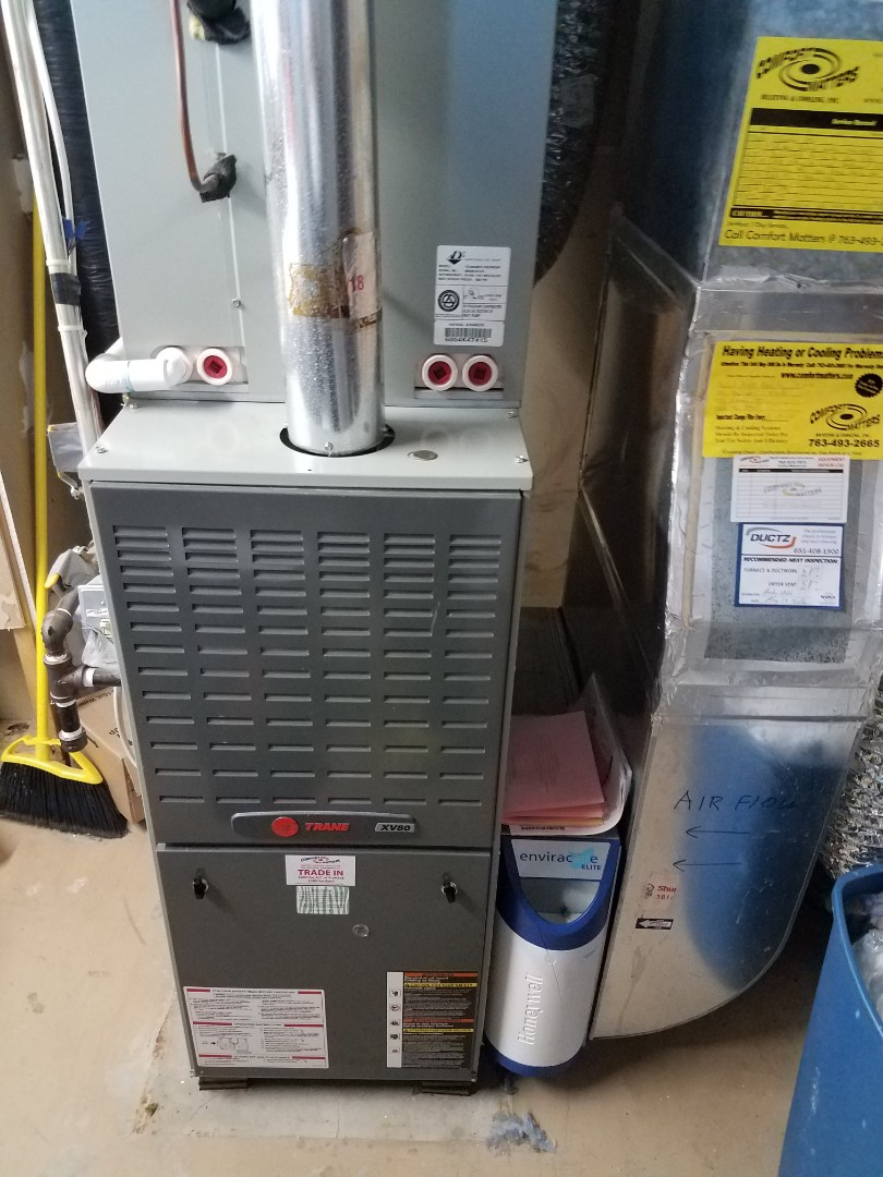 Rogers, MN - Heating maintenance. Performed cleaning and tune up on a Trane furnace.