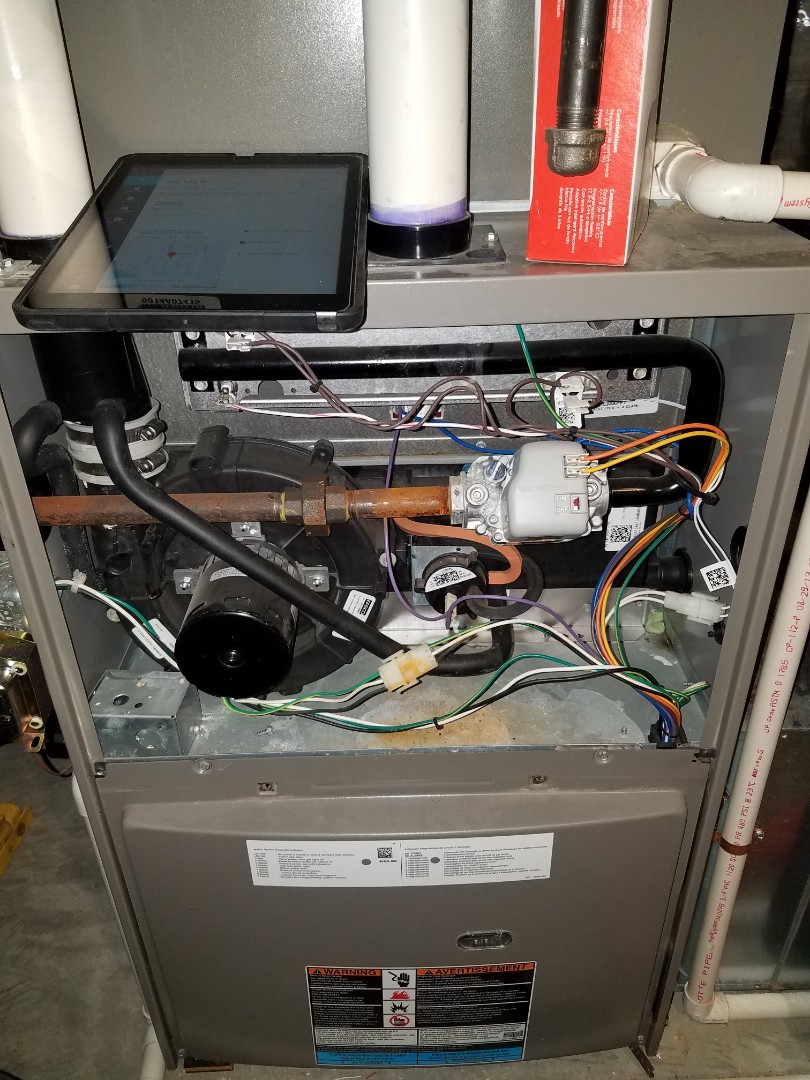 Corcoran, MN - Furnace tune up and cleaning on Lennox furnace
