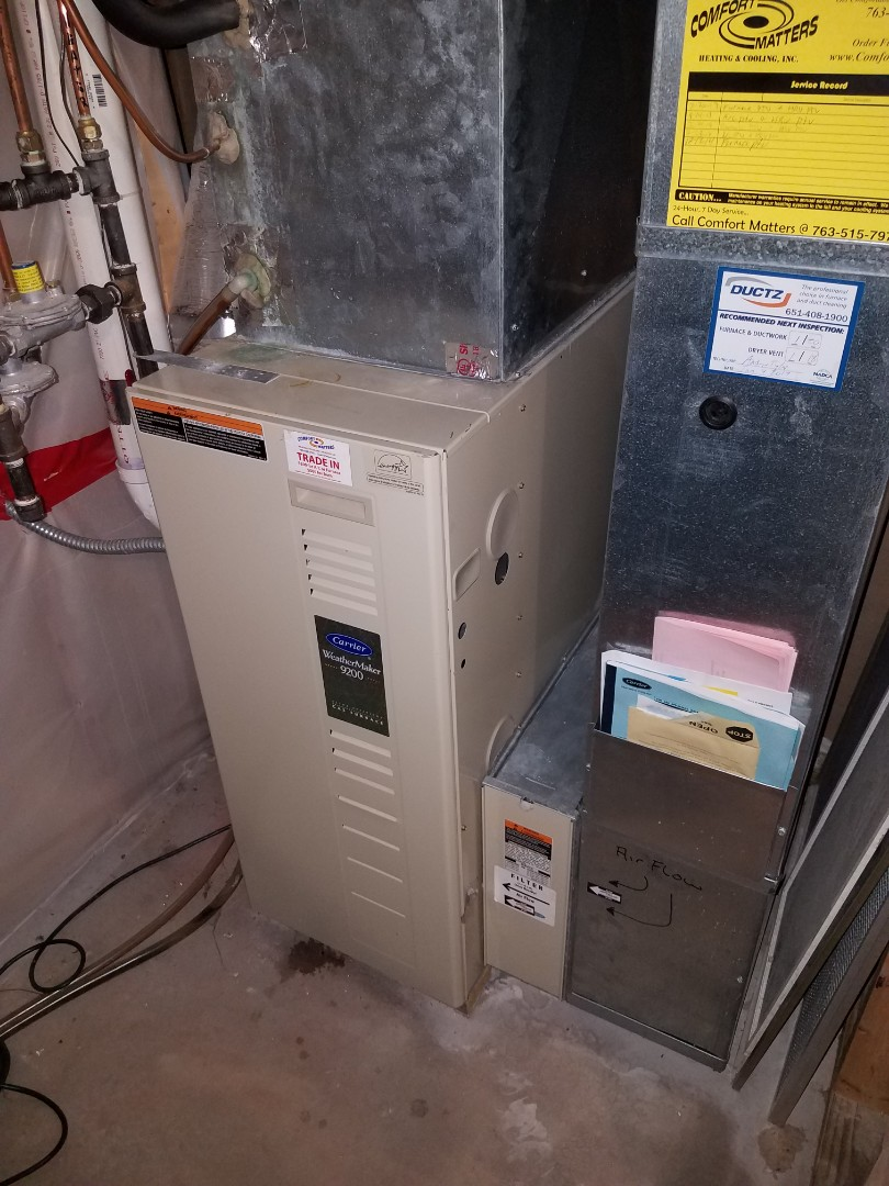 Delano, MN - Furnace tune up and clean on carrier unit in St. Michael