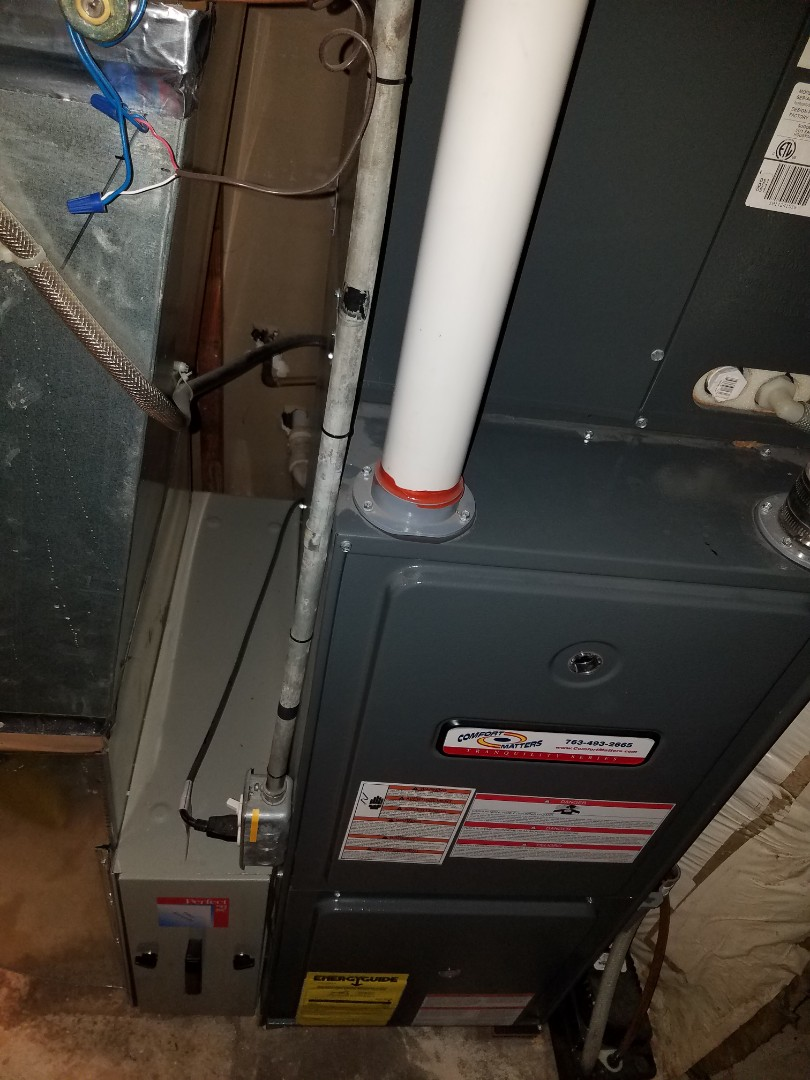 Buffalo, MN - Furnace maintenance. Diagnosed and changed out faulty inducer exhaust motor