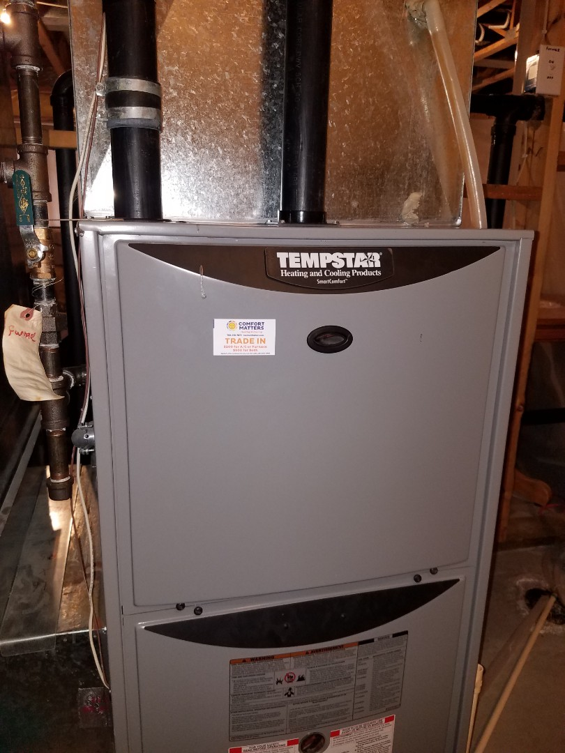 Corcoran, MN - No heat call on tempstar furnace, found failed inducer motor and cracked transition piece in Brooklyn Park