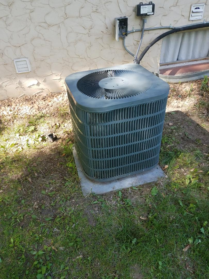Elk River, MN - AC tune up and cleaning on Goodman and Ruud units in Maple Grove