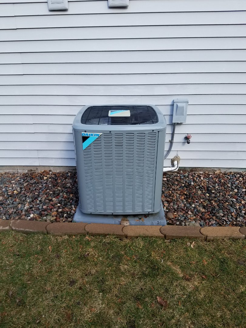 Maple Grove, MN - AC maintenance. Performed tune up and cleaning on a Daikin AC.