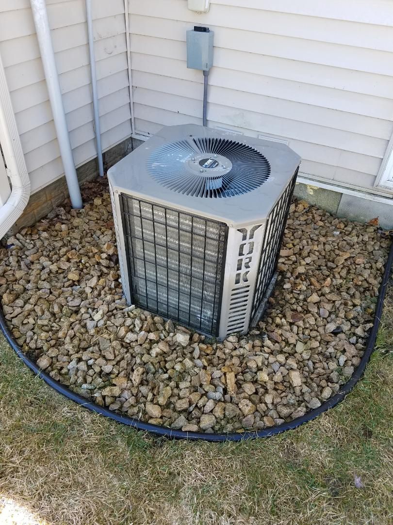 Albertville, MN - Air conditioning tune up and cleaning on York air conditioner