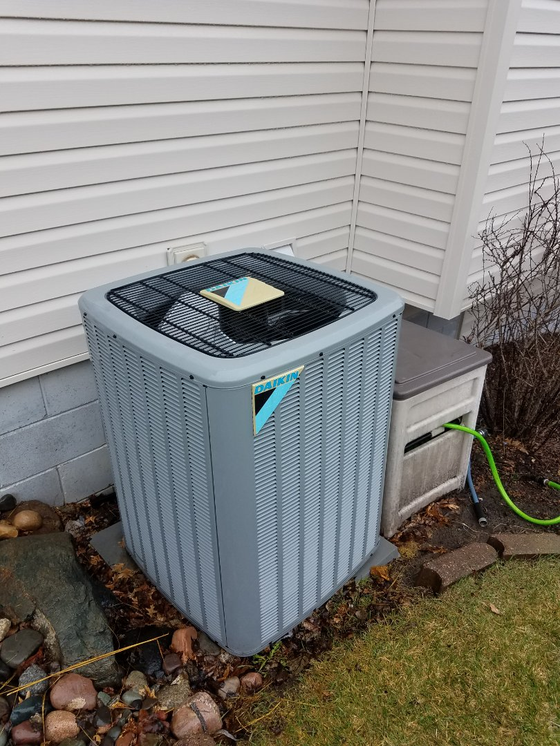 Maple Grove, MN - Air conditioning tune up and cleaning on daikin air conditioner