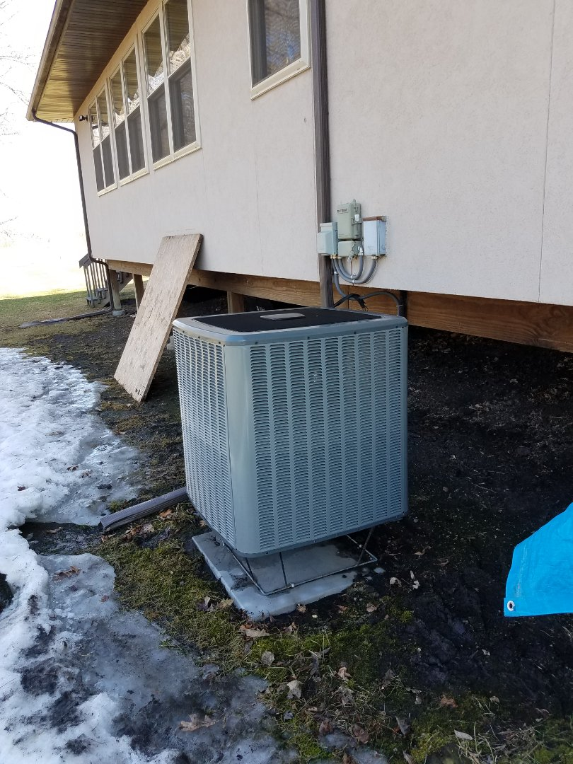 Osseo, MN - AC tune up and clean on Daikin unit in Coon Rapids