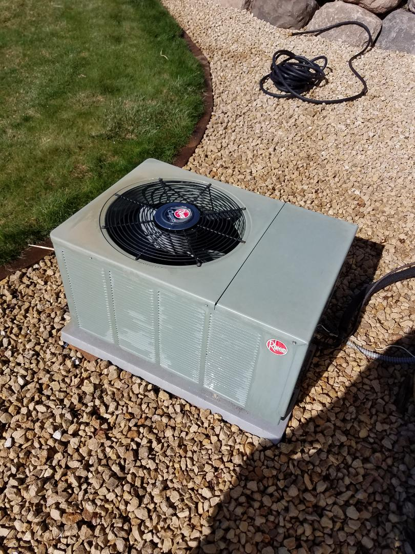 Rogers, MN - Air conditioning tune up and cleaning on rheem air conditioner