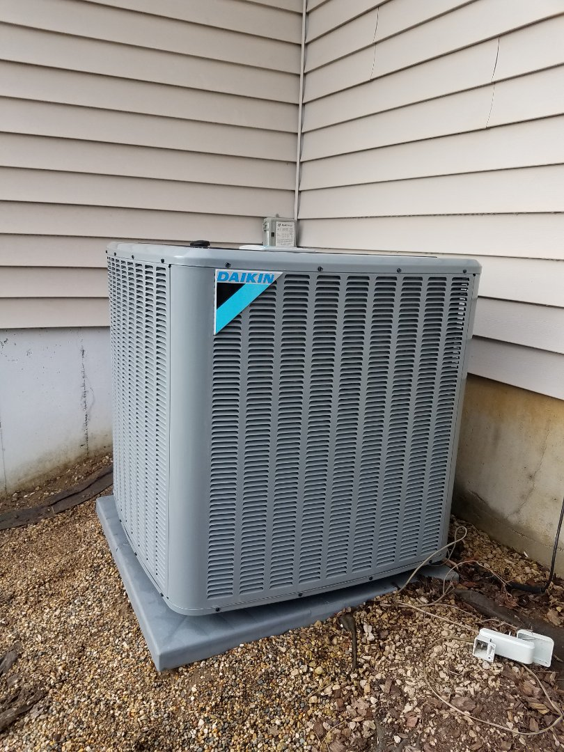 Maple Grove, MN - AC maintenance. Performed tune up and cleaning on a Daikin AC. Installed drain pan treatment and ECM power protection.
