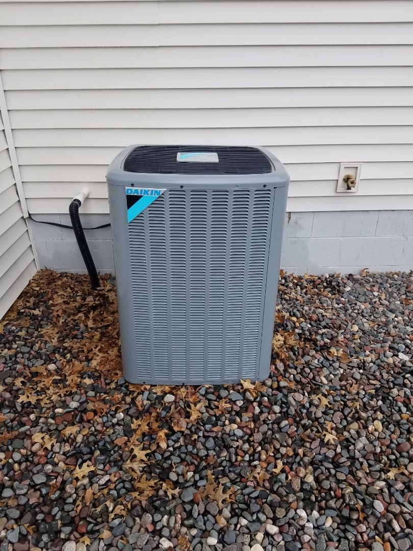 Albertville, MN - Cooling maintenance. Performed tune up and cleaning on a Daikin AC.