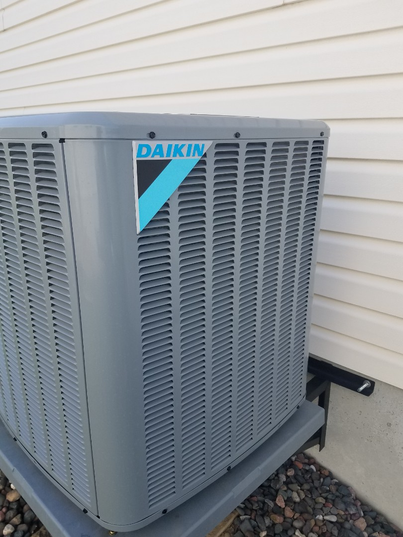 Hanover, MN - Cooling maintenance. Performed tune up and cleaning on a Daikin AC