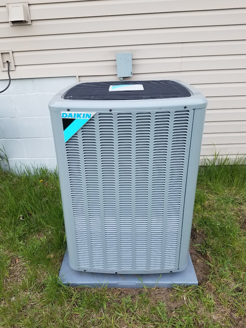 Hanover, MN - AC maintenance. Performed cleaning and tune up on a Daikin air conditioner.