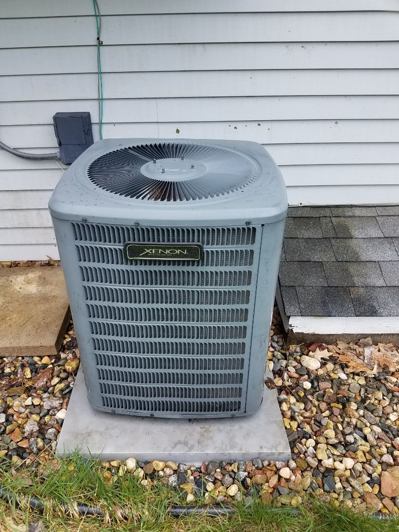 Wayzata, MN - Cooling maintenance. Performed tune up and cleaning on a Xenon AC. Cleaned blower wheel, installed new blower motor starter, added ACRenew and locking refrigerant caps.
