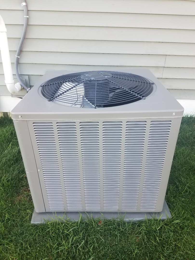 Albertville, MN - Cooling maintenance. Performed tune up and cleaning on a Rheem AC