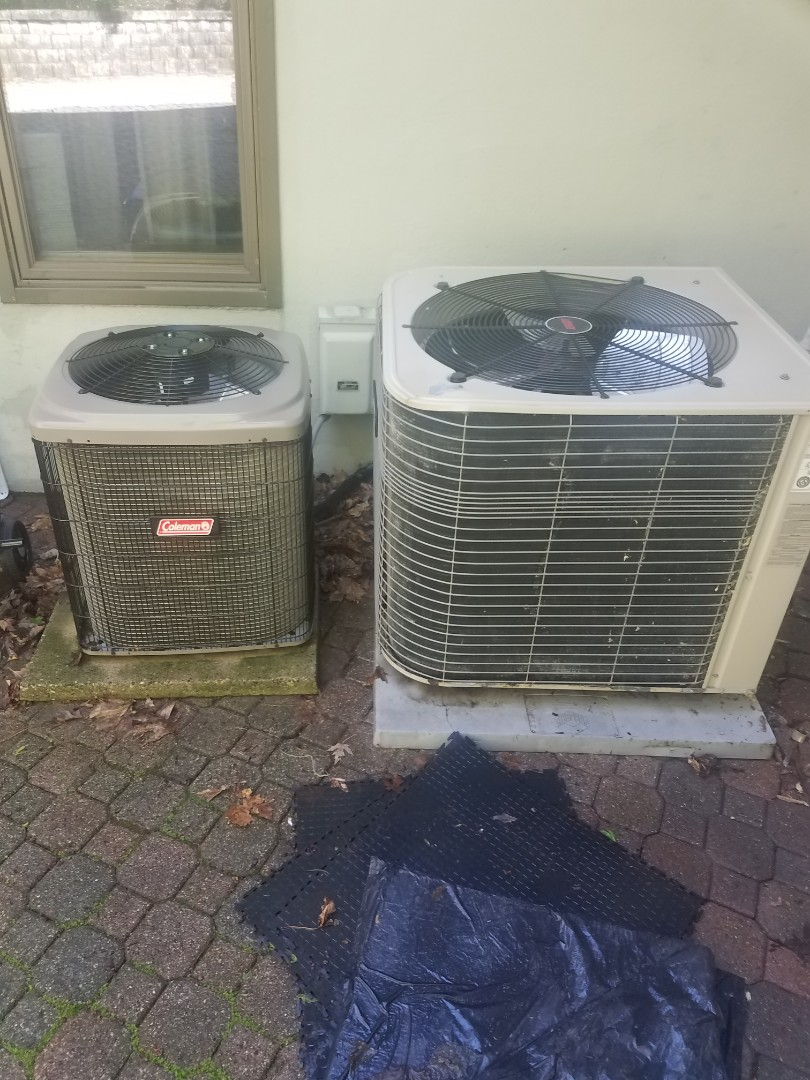 Minnetonka, MN - Cooling maintenance. Performed tune up and cleaning on a Coleman and Lennox AC.