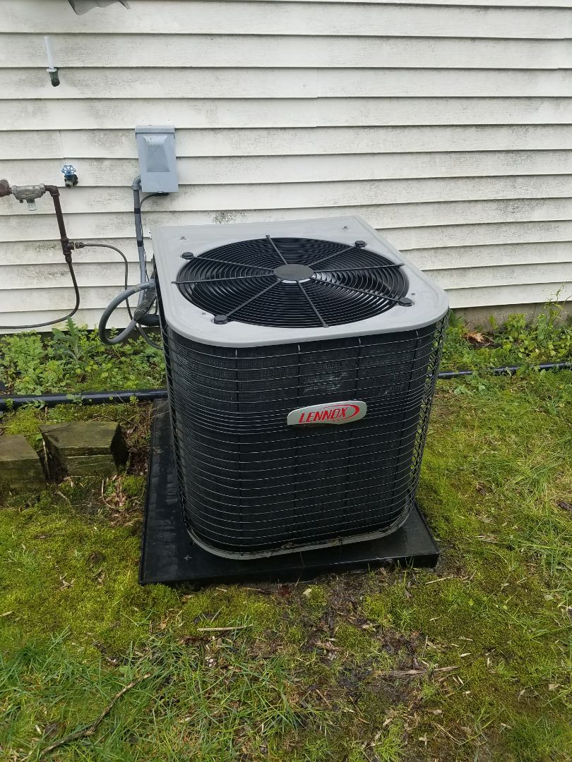 Corcoran, MN - Cooling maintenance. Performed tune up and cleaning on a Lennox AC. Installed locking refrigerant caps.