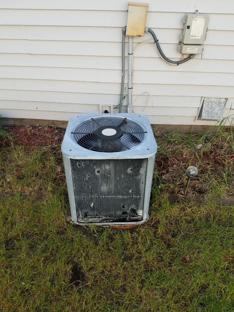Monticello, MN - Cooling maintenance. Performed tune up and cleaning on a Heat Controller AC.