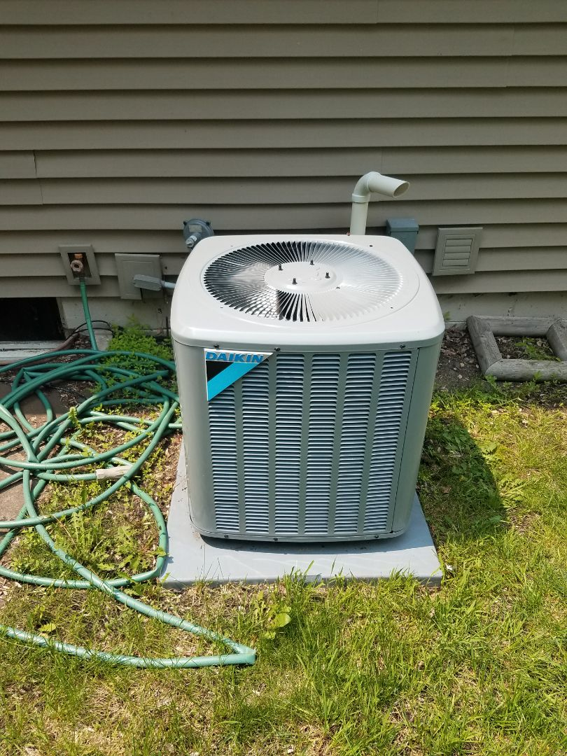 Elk River, MN - AC maintenance. Performed cleaning and tune up on a Daikin AC.