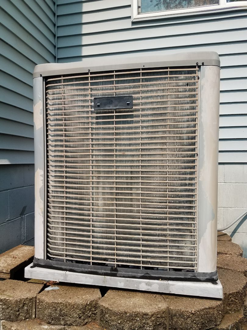Ramsey, MN - AC maintenance. Performed cleaning and tune up on a Luxaire air conditioner. Installed new line set insulation and new universal motor booster.