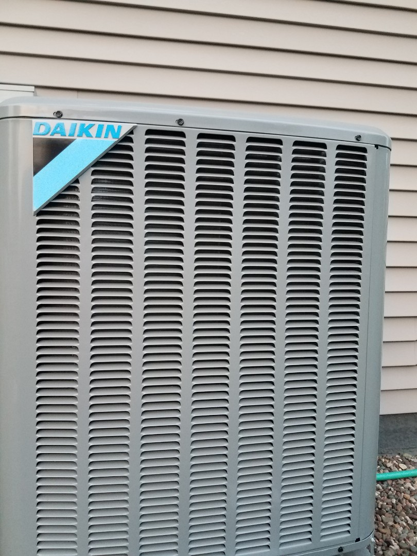 Saint Michael, MN - AC maintenance. Performed cleaning and tune up on a Daikin air conditioner. Performed wiring fix on air conditioner.