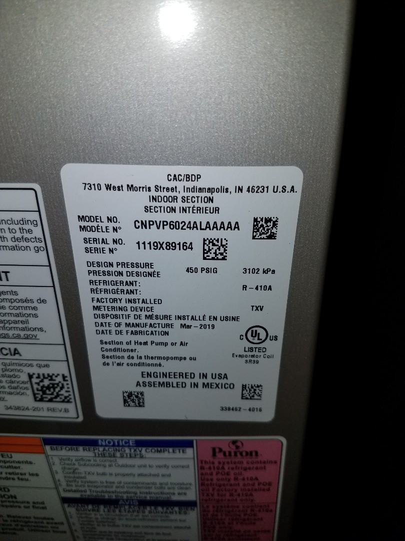 Wayzata, MN - Replaced indoor evaporator coil on Bryant unit in Medina