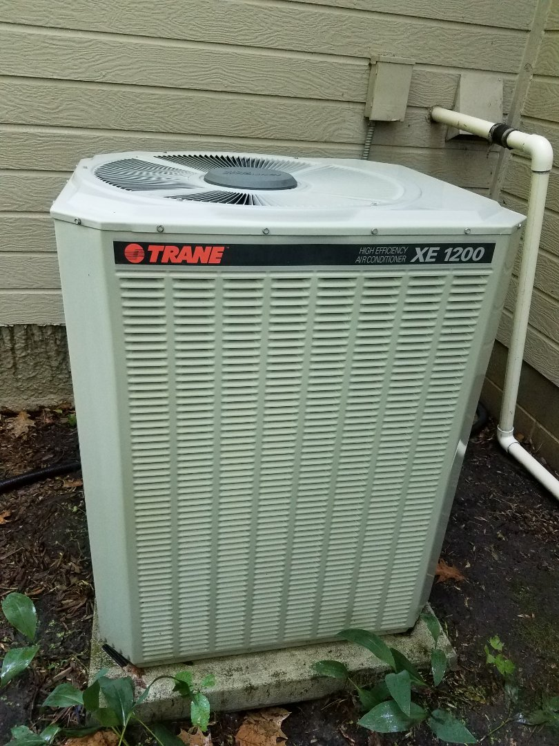 Plymouth, MN - AC maintenance. Performed tune up and cleaning on a Trane air conditioner.