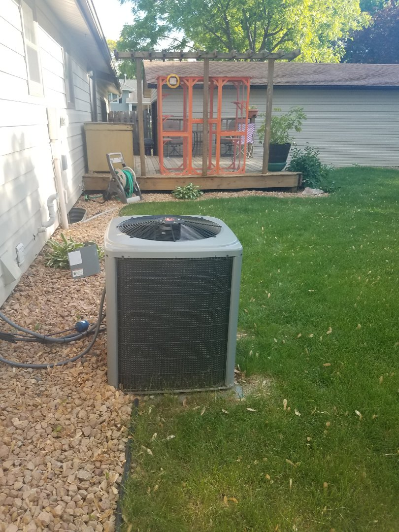 Maple Grove, MN - Cooling maintenance. Performed diagnostics on a Coleman air conditioner