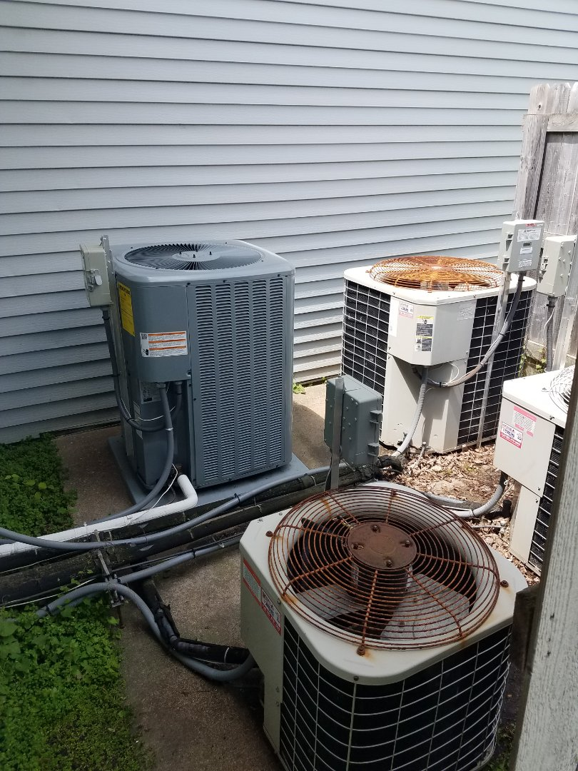 Independence, MN - AC tune up and cleaning on 7 condenser units in Independence
