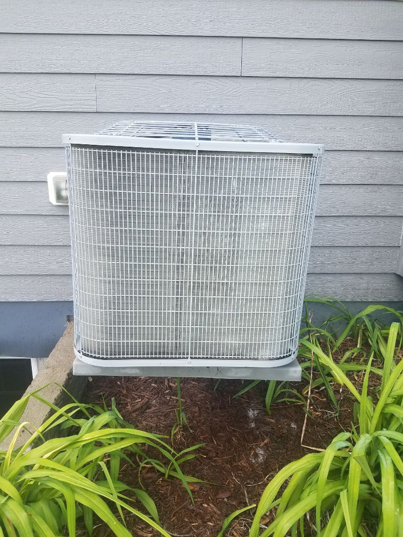 Maple Grove, MN - Cooling maintenance. Performed cleaning and tune up on a Bryant air conditioner.  Installed drain pan treatment and universal motor booster.