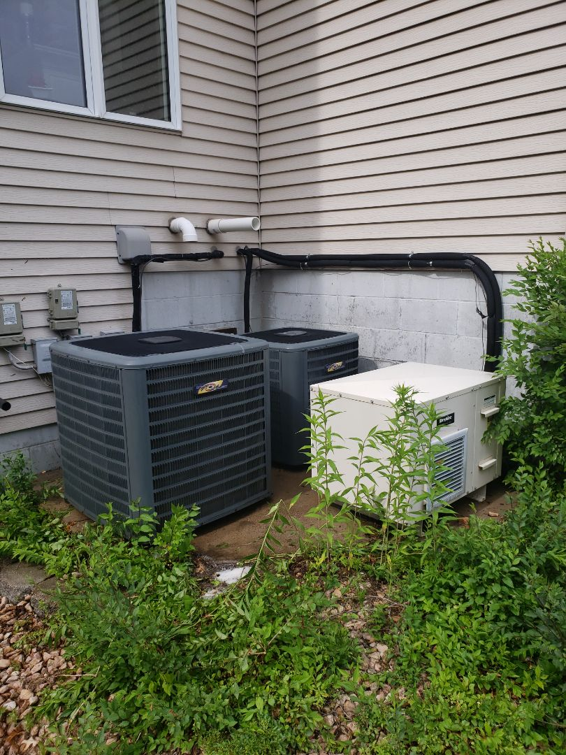 Ramsey, MN - AC service. Installed a Honeywell zone control board, performed a cleaning and tune up on a Daikin air conditioner, amd installed an AC motor booster.