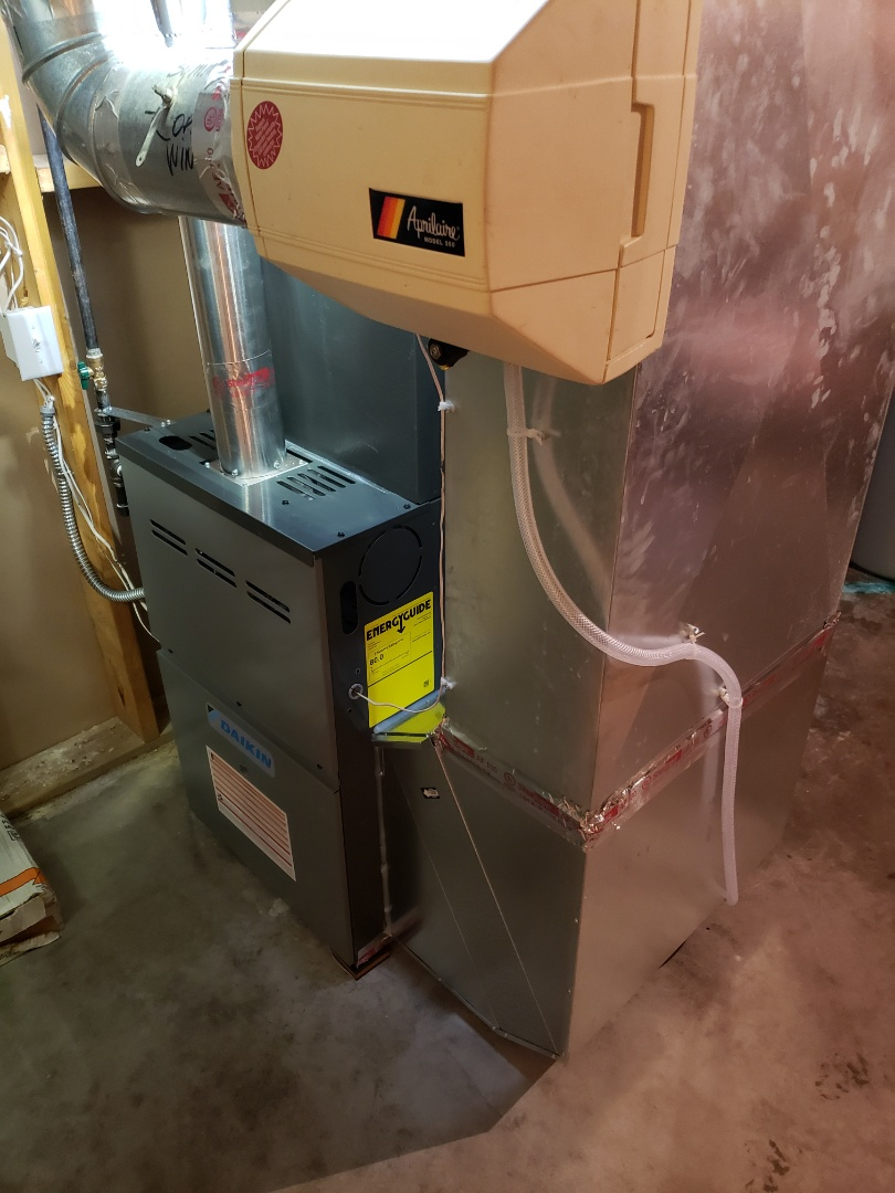 New furnace and AC install