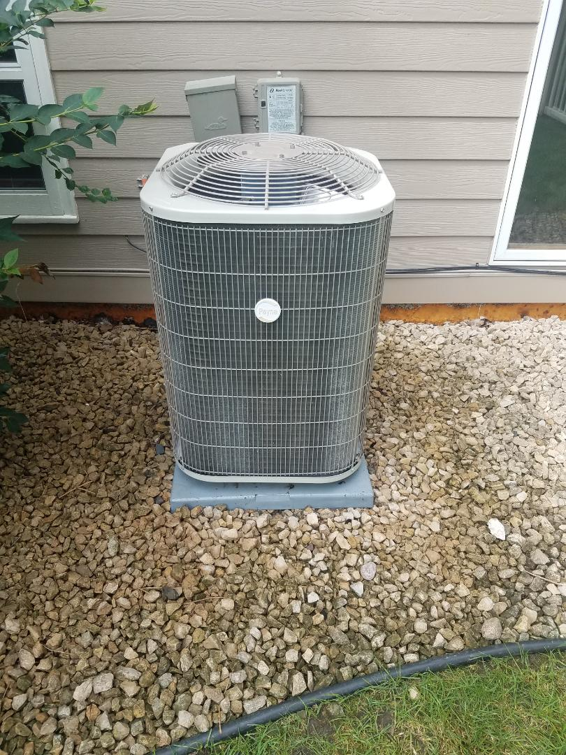 Long Lake, MN - Cooling maintenance. Performed diagnostics on a Payne air conditioner.