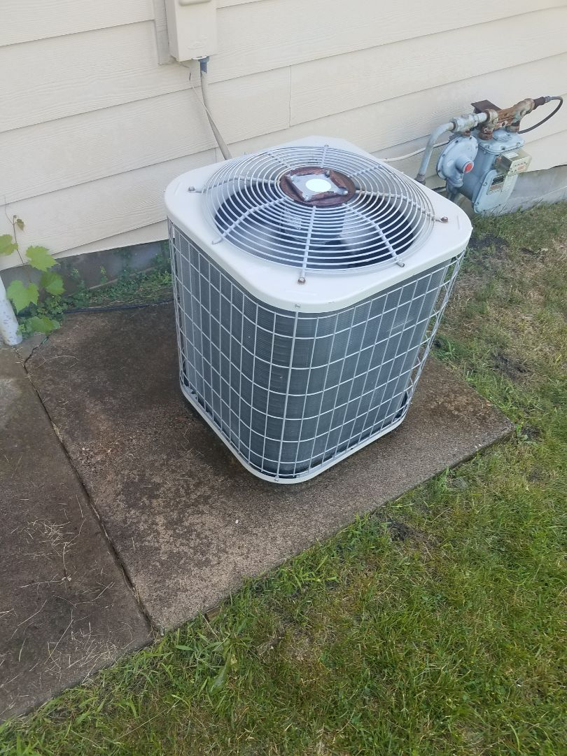Dayton, MN - AC maintenance. Performed cleaning and tune up on a Payne air conditioner.